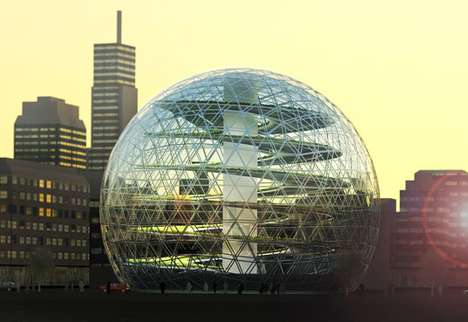 Giant Orb Greenhouses