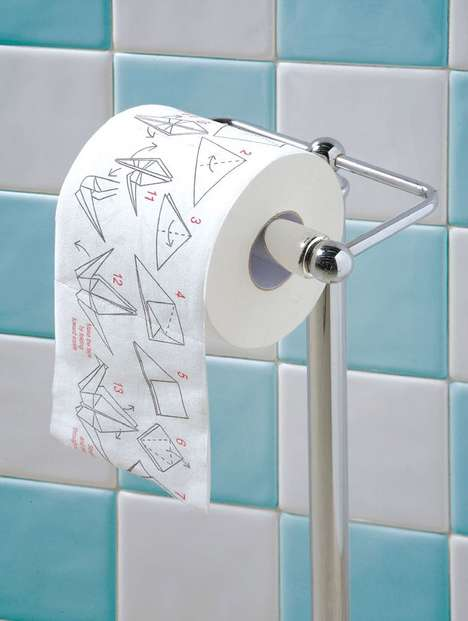 Get Rid of Bathroom Boredom With Traditional Paper Folding