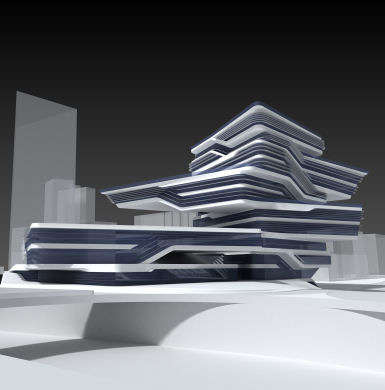 Book Stack Architecture - Zaha Hadid Creates Offset Design for Edifici Campus in Barcelona