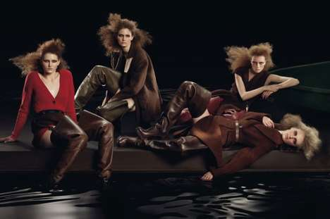 Dark Water Fashion - Prada's Brooding Fall/Winter 09-10 Womenswear Ads