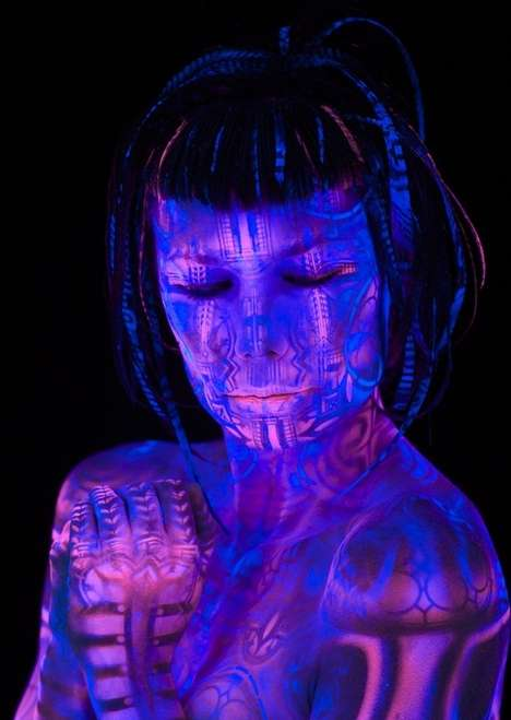 Blacklight Body Painting