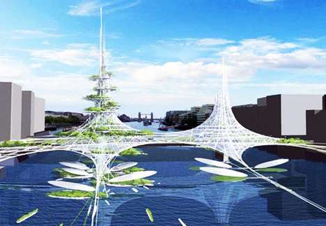 Water Spanning Vertical Farms