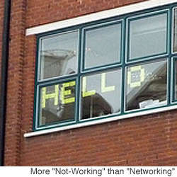 Two London Offices Place Post-It Messages on Windows