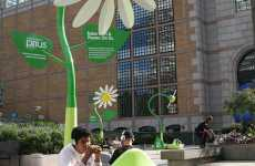 Solar Wi-Fi Flowers - 18' Sun-Powered Daisies Planted by Toyota in Boston