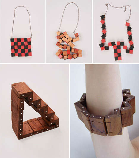 Wood Block Necklaces