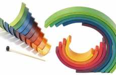 Foldable Instruments - The Naef Rainbow is a Multi-Purpose Musical Toy