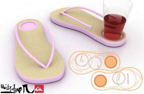 Flip-Flop Cup Holders