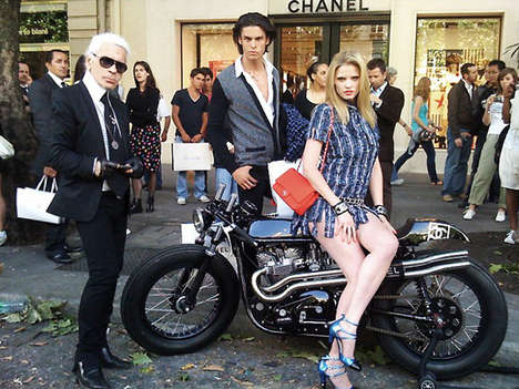 Kaiser Choppers - Karl Lagerfeld Unveils a Custom Designed Chanel Motorcycle