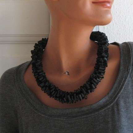 Recycled Bicycle Jewelry - Tour de France Fans Will Love These Old Bike Tires Turned Wearable Art