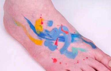 Paint Splatter Tattoos