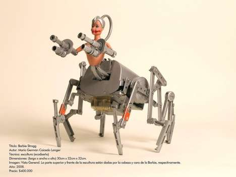 The 'Barbie Strogg' Insectoid Centaur-Fighting Robot Fends off Evil Brothers