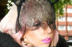 Rabbit Ear Veils - Lady Gaga Looks Coo-Coo With an Eccentric Head Accessory