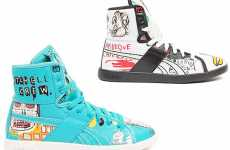 Artistic High Tops - Reebok's Kicks are Covered In Basquiat's Art (Update)