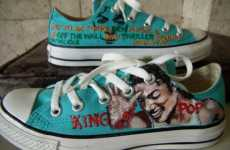 Michael Jackson Converse - Alcat2021's Sneakers Also Include Beatles, Twilight, Johnny Depp