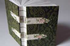 Fabric Book Bindings - 'Natalie As Is' Creates Vintage Looking One-of-a-Kind Covers
