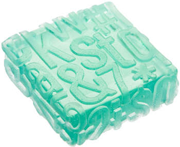 Clean Font Suds - The Typography Soap by Debbie Chialtas is for Literary Lovers