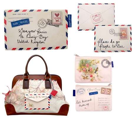 Paper Mail Handbags - Vintage Purses Resemble Snail Mail Letters
