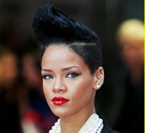 Pompadour Mohawks - Rihanna Shows Women How to Rock the Greaser Look Right
