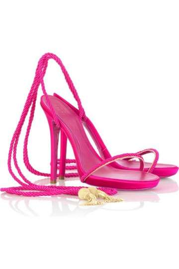 Strappy Satin Rope Sandals by Alexander McQueen