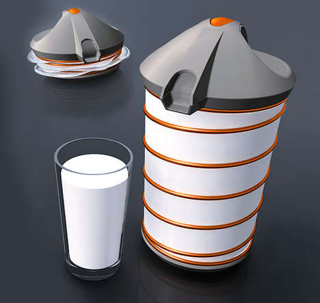 Shrinking Milk Containers