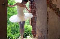 Dilapidated Building Dance Recitals - Alexey Novikov Captures a Ballerina in an Abandoned Edifice