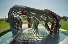 3D Triangle Architecture - DIY Reykjavik Pavilion by Shift Architects Questions Iceland's Futu