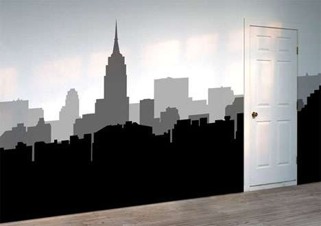 Cityscape Wall Decals - Removable Stickers Turn Your Walls into Urban Skylines