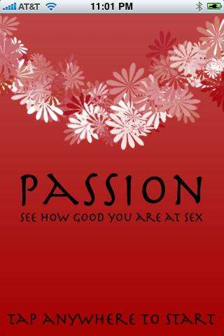 'Passion' Scores You on Your Skills Between the Sheets