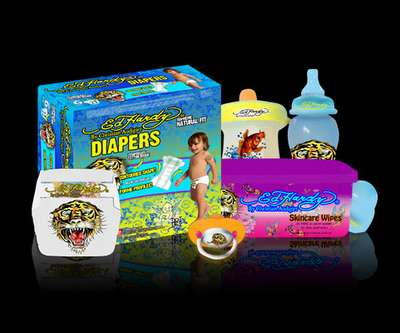 Badass Baby Gear - Christian Audigier Now Makes Ed Hardy Diapers & Diaper Bags