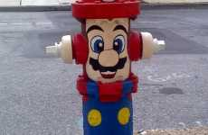 Cartooned Street Fixtures - Super Mario Fire Hydrants Bring a Burst of Geek to the Street
