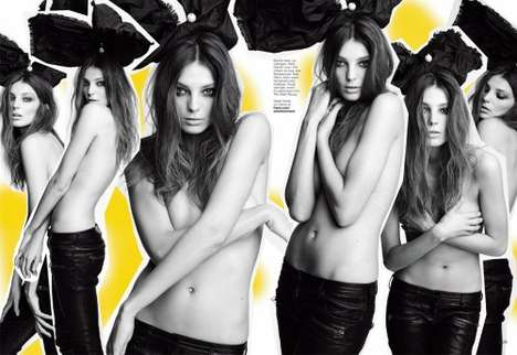 Celebratory Magazine Issues - Flare Celebrates 30th Anniversary With Daria Werbowy