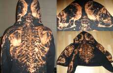 Artistic Bleached Clothing - Derek 'Bones' Boe's Bleach-Painted Hoodies Are Badass