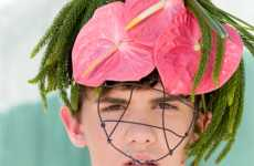 Male Floral Fascinators - Nissa Quanstrom's 'Green Streets' is Eccentric & Eco-Chic