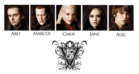 Vampire Head Shots - The Twilight: New Moon Volturi Clan Pictures Leaked Online