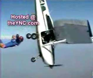 Skydiving Into Another Plane