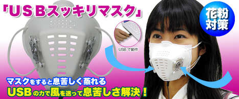Techy Face Masks - Japanese USB Face Masks For Serious Germ-a-Phobes