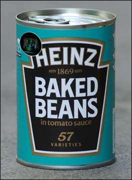 English Officials Hiding Cameras in Cans of Baked Beans