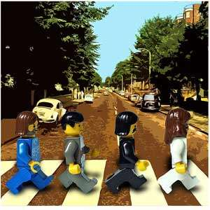 Album Covers Recreated with Lego