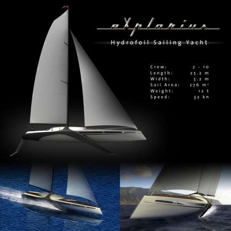 the Hydrofoil Sailing Yacht