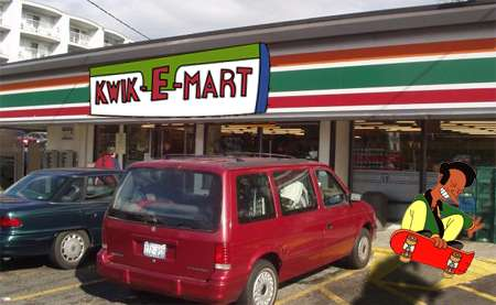 Real Life Movie Tie-Ins - 7/11 Stores Refitted as Kwik-E-Marts