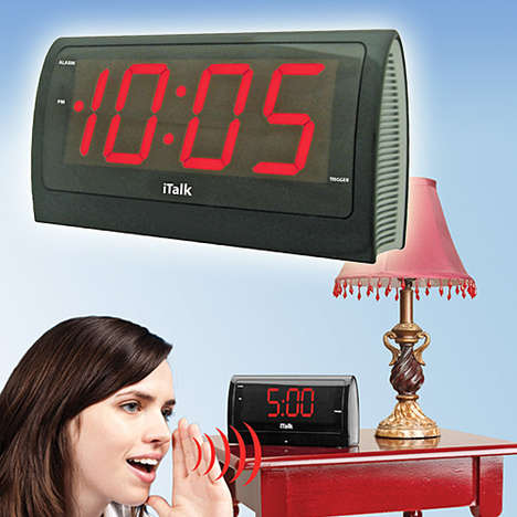 Obedient Alarm Clocks - The iTalk Voice Alarm Clock Hears You When You Speak