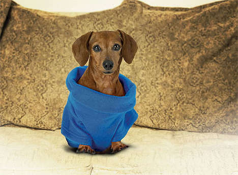 Pet Recession Blankets - Snuggie Dog Matches Owners' Snuggies, Keeps Pooches Warm