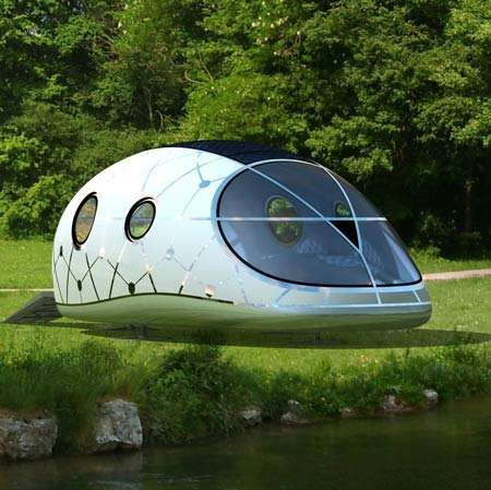 Futuristic Mobile Homes - The MercuryHouseOne is Portable Urban/Rural Living Space