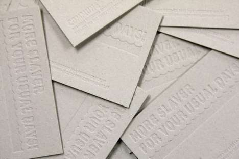 Pressure-Printed Business Cards - COMMUNE Creates Book Board Contact Cards