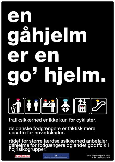 Pedestrian Helmets - Danish Insurance Company Encourages Walking Safety Gear