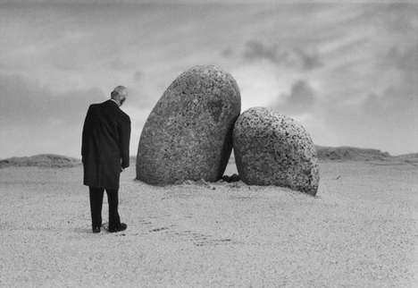 Surrealist Photo Art - Dark Humor in Black And White From Photographer Gilbert Garcin