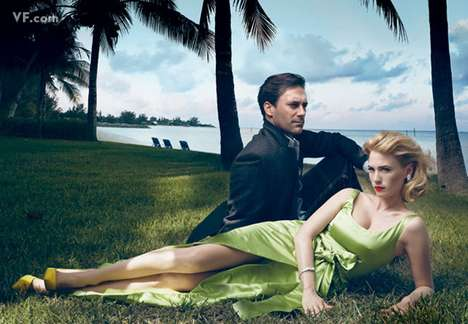 Housewife Editorials - Annie Leibovitz Shows the Love Lost Between a 'Mad Men' Couple