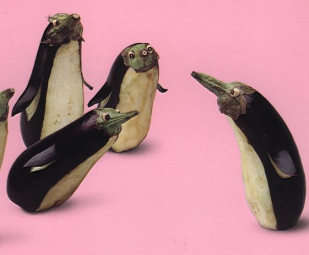 Eggplant Penguins