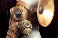 Elephant Gas Masks - Tom Banwell Creates Stylish Steampunked Masks With Trunks