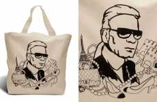 Eco Designer Totes - Enviro Bags Featuring Portraits of Marc Jacobs and Karl Lagerfeld